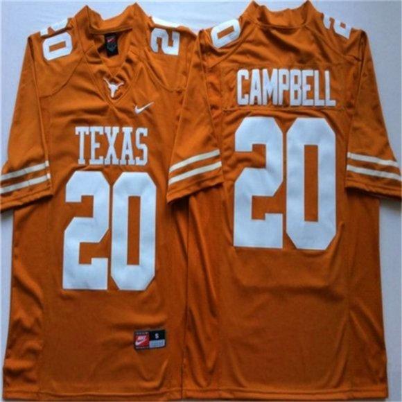 Texas Longhorns #20 Earl Campbell Jersey NWT
